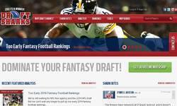Screenshot of Draft Sharks Fantasy Football