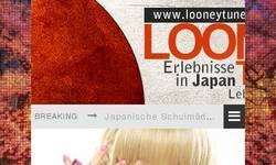 Screenshot of Looneytune.de - Dark Blog über Japan