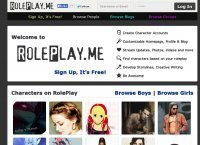 Screenshot of RolePlay.me | Online Roleplaying Social Network