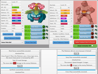 Screenshot of Pokemon MMORPG Game PokemonPets Online