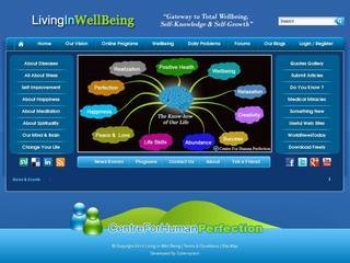 Screenshot of Living In Wellbeing