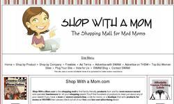 Screenshot of Shop With a Mom.com