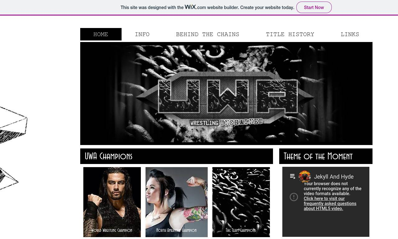 Screenshot of Unchained Wrestling Alliance