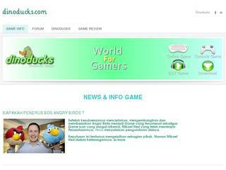 Screenshot of dinoducks.com