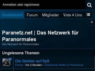 Screenshot of Paranetz.net | Das Paranormale Netzwerk