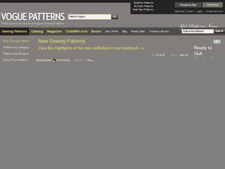 Screenshot of Vogue Patterns