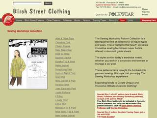 Screenshot of Birch Street Clothing