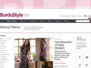 Screenshot of BurdaStyle