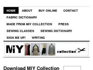Screenshot of MIY Collection
