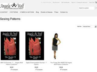Screenshot of Angela Wolf Patterns
