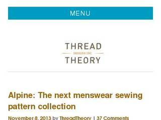 Screenshot of Thread Theory Blog