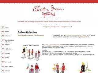 Screenshot of Christine Jonson Patterns