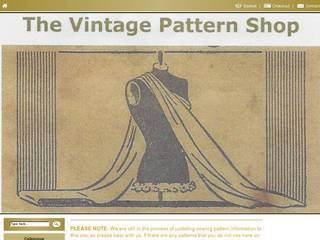 Screenshot of The Vintage Pattern Shop