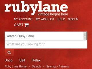 Screenshot of Ruby Lane