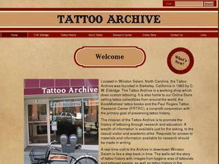 Screenshot of Tattoo Archive