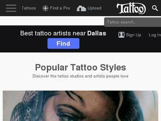 Screenshot of Tattoo.com