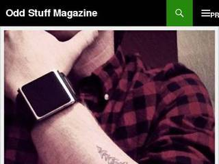 Screenshot of Odd Stuff Magazine