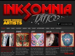 Screenshot of Inksomnia Tattoo