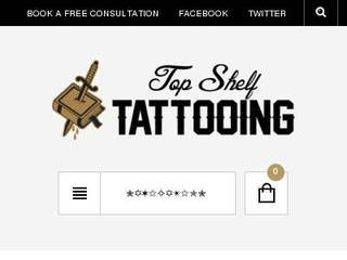 Screenshot of Top Shelf Tattooing