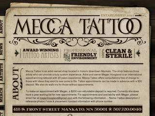 Screenshot of Mecca Tattoo
