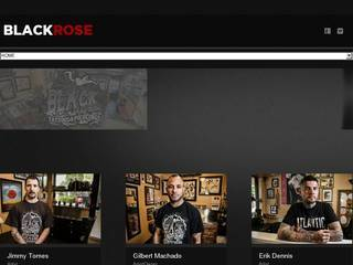 Screenshot of Black Rose Tattoo Shop