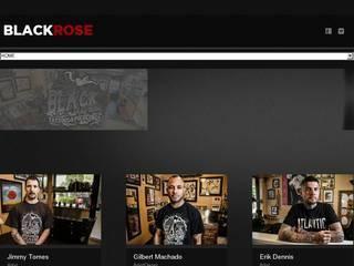 Screenshot of Black Rose Tattoo Shop