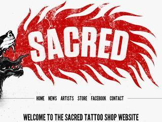 Screenshot of Sacred Tattoo Shop