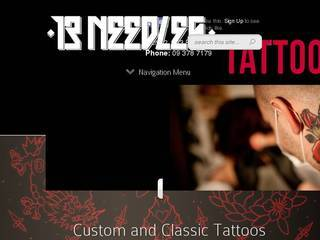 Screenshot of 13 Needles Tattoo