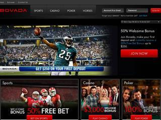 Screenshot of Bovada