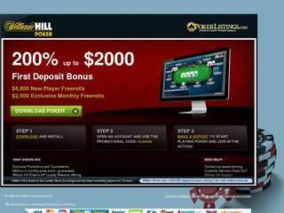 Screenshot of William Hill Online Betting
