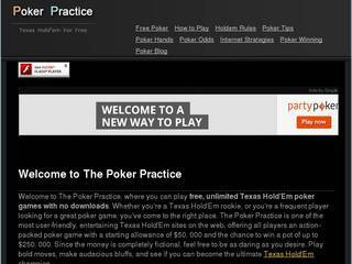 Screenshot of The Poker Practice