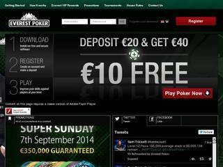 Screenshot of Everest Poker