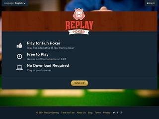 Screenshot of Replay Poker