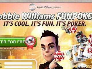Screenshot of Robbie Williams Fun Poker
