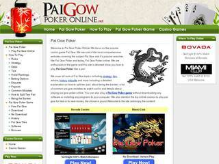 Screenshot of Paigow Poker Online