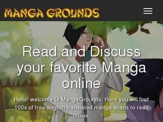 Screenshot of MangaGrounds | Anime & Manga Forum