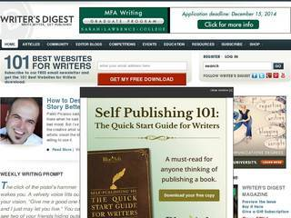Screenshot of Writer's Digest