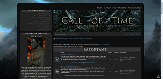 Screenshot of Call of Time