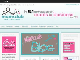 Screenshot of mumsclub