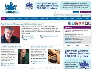 Screenshot of mumsnet