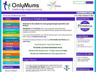 Screenshot of onlymums