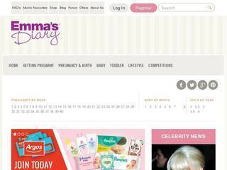 Screenshot of emmasdiary.co.uk