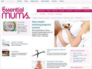 Screenshot of essentialmums