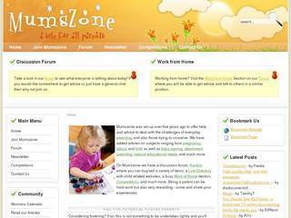 Screenshot of mumszone