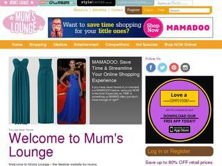 Screenshot of mumslounge.com