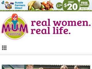 Screenshot of mumcentral