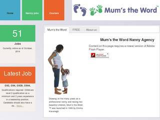 Screenshot of mums-the-word