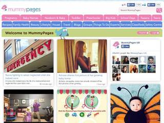 Screenshot of mummypages
