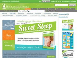Screenshot of The La Leche League