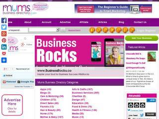 Screenshot of mumsbusinessdirectory